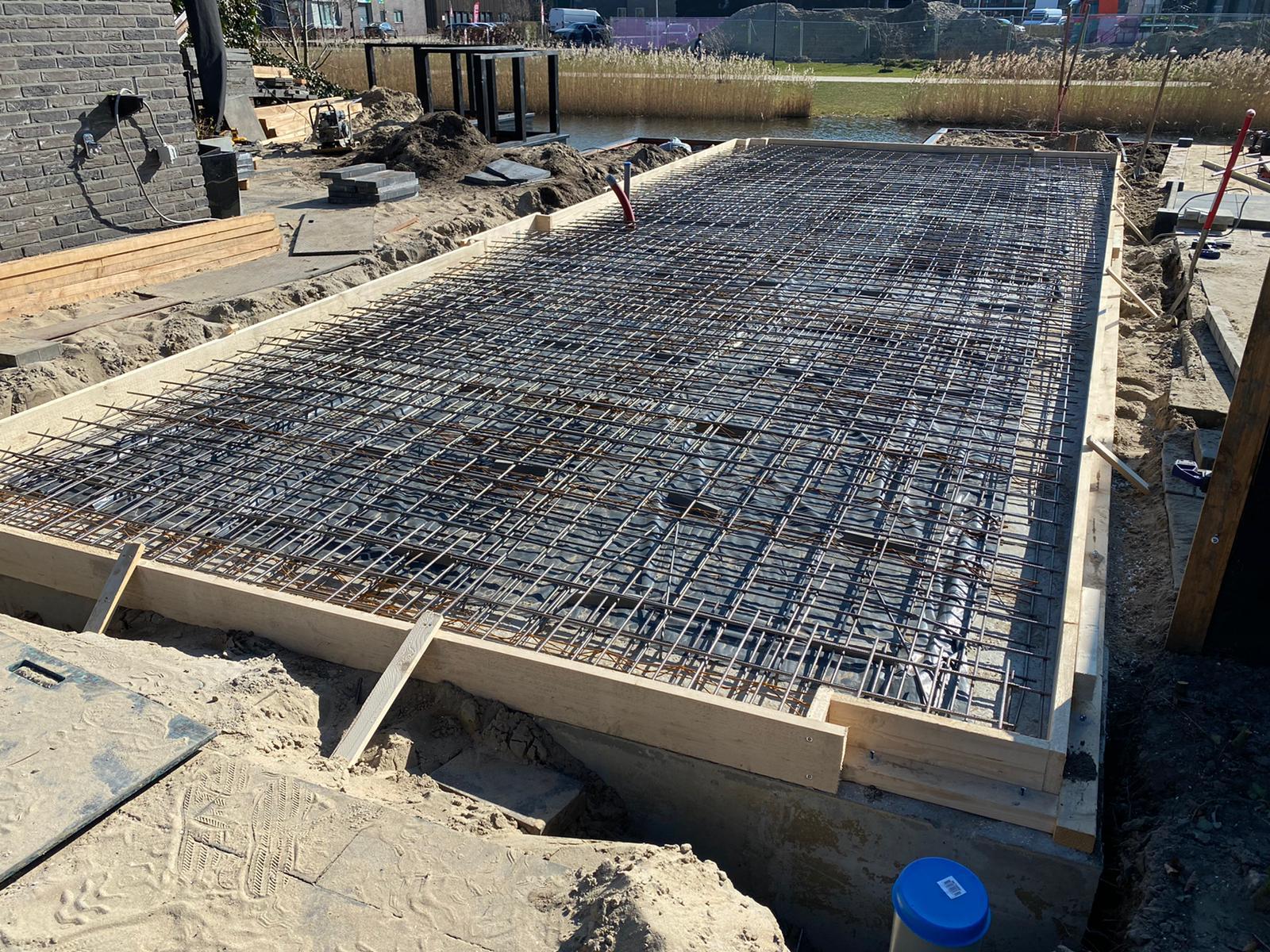 Gewapende betonvloer